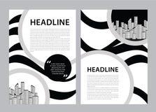 De vector van het brochuremalplaatje, bedrijfsvliegerontwerp, tijdschriftlay-out a4, jaarverslag, catalogus, pamflet, boekje, gra royalty-vrije illustratie