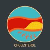 De vector van het cholesterolembleem Royalty-vrije Stock Foto's