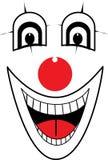 De vector van het clowngezicht Royalty-vrije Stock Foto
