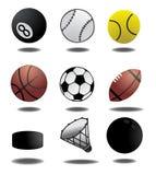 Het detailvector van sportballen Stock Foto
