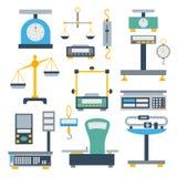 De vector van het de instrumentatiehulpmiddel van de gewichtsmeting Royalty-vrije Stock Foto