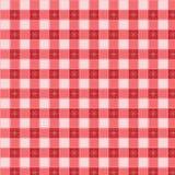 De vector van het de picknicktafelkleed van het patroon Stock Foto