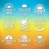 De Vector van het de zomeretiket Stock Fotografie