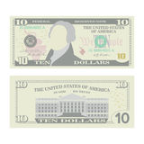 De Vector van het 10 Dollarsbankbiljet De Munt van de beeldverhaalv.s. Twee Kanten van Tien Amerikaans Geld Bill Isolated Illustr royalty-vrije illustratie