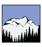 De vector van het Embleem van de berg Royalty-vrije Stock Foto