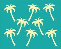 De vector van het het embleemmalplaatje van de palmzomer royalty-vrije illustratie