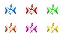 De vector van het het embleemontwerp van muziekverbindingen vector illustratie