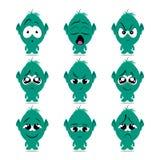 De vector van het emotiemonster Stock Foto