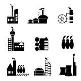 De vector van het fabriekspictogram Stock Foto