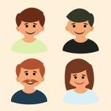 De vector van het familiepictogram Art beeld embleem teken Royalty-vrije Stock Foto's