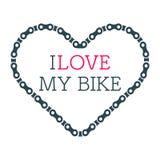 De vector van het fietshart Stock Afbeelding