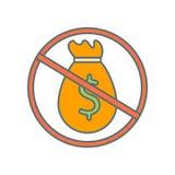 De vector van het geldpictogram op witte achtergrond, Geldteken wordt geïsoleerd dat vector illustratie