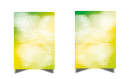 De Vector van het geometrische Ontwerpmalplaatjes van de vliegerbrochure Royalty-vrije Stock Foto's