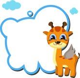 De VECTOR van het girafkader Stock Afbeeldingen