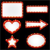 De vector van het het casinoteken van de verlichting Stock Fotografie