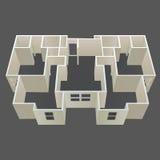 De vector van het het huisplan van de architectuur Stock Foto's