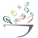 De vector van het het ontwerpsymbool van de saladekom Stock Fotografie