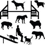 De vector van het hondsilhouet Stock Foto's