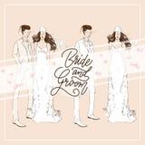 De vector van het de kaartmalplaatje van de huwelijksuitnodiging royalty-vrije illustratie