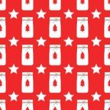 De vector van het Kerstmispatroon op rode achtergrond royalty-vrije illustratie