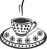 De vector van het koffieontwerp backgroung vector illustratie