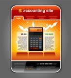 De vector van het Malplaatje van de Website van de Boekhouding van financiën royalty-vrije illustratie