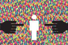 De vector van het mensenonderzoek Stock Afbeeldingen