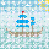 De vector van het Mosaikschip Stock Foto