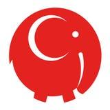 De vector van het olifantspictogram Stock Foto's