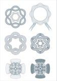 De vector van het ontwerpelementen van rozetten Stock Afbeelding