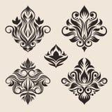 De Reeks van het Ornament van de werveling vector illustratie