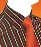 De vector van het overhemd en van de band vector illustratie