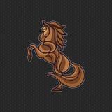 De Vector van het paardembleem stock foto's
