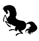 De Vector van het paardsilhouet royalty-vrije stock foto's