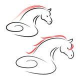 De vector van het paardteken stock illustratie