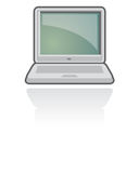 De Vector van het Pictogram van het notitieboekje/Laptop   Royalty-vrije Stock Foto