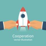 De vector van het samenwerkingsconcept stock illustratie