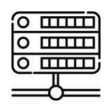 De vector van het serverpictogram royalty-vrije illustratie