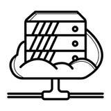 De vector van het serverpictogram stock illustratie