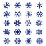 De Vector van het sneeuwvlokpictogram Stock Afbeelding
