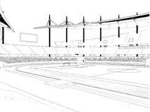 De Vector van de het Stadionillustratie van het voetbalvoetbal Royalty-vrije Stock Fotografie