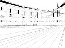 De Vector van de het Stadionillustratie van het voetbalvoetbal Stock Fotografie