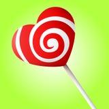 De vector van het suikergoedhart Stock Foto
