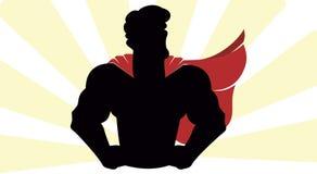 De Vector van het Superherosilhouet Royalty-vrije Stock Afbeeldingen