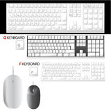 De vector van het toetsenbord en van de muis Stock Foto