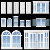 De vector van het venster en van de deur stock illustratie