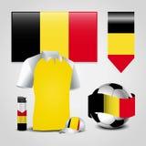 De vector van het de vlagontwerp van Belgi? stock illustratie