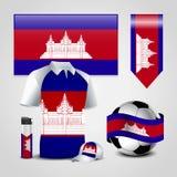 De vector van het de vlagontwerp van Kambodja royalty-vrije illustratie