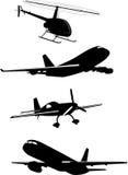 De vector van het vliegtuig Stock Afbeeldingen