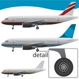 De vector van het vliegtuig Royalty-vrije Stock Afbeelding